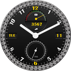 Diamond Black smartwatch face for Samsung GearS2 and GearS3