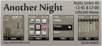 Another Night animated theme for Nokia C1-01, C2-00 2690 & 128×160