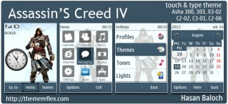 Assassins's Creed IV Black Flag Theme for Nokia Asha 300/303, X3-02, C2-02, C2-03, C2-06, touch & type