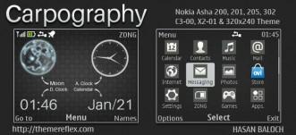 Carpography Live Theme for Nokia C3-00, X2-01, Asha 200, 201, 205, 210, 302 & 320×240 Devices