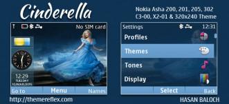 Cinderella Live Theme for Nokia C3-00, X2-01, Asha 200, 201, 205, 210, 302 & 320×240 Devices
