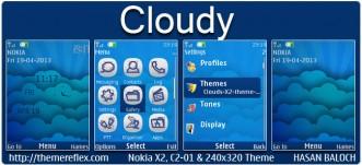 Cloudy Theme for Nokia X2-00, C2-01, 2700, X2-05, 206 & 240×320
