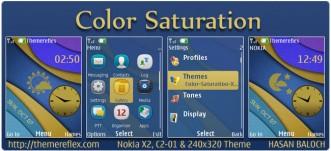 Color Saturation Live Theme for Nokia X2, C2-01 & 240×320
