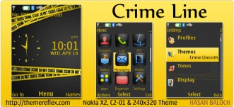 Crime Line Theme for Nokia X2, C2-01 & 240×320