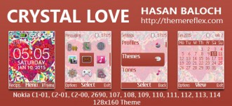 Crystal Love Theme for Nokia C1-01, C1-02, C2-00, 107, 108, 109, 110, 111, 112, 113, 114 & 128×160 Devices