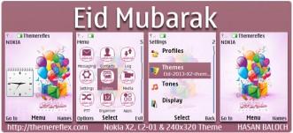 Eid Mubarak Theme for Nokia X2-00, C2-01, 2700, X3-00, X2-05, 6303i & 240×320