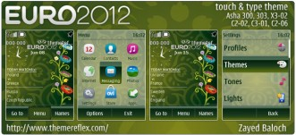 Euro 2012 Schedule theme for Nokia Asha 303, X3-02, touch & type