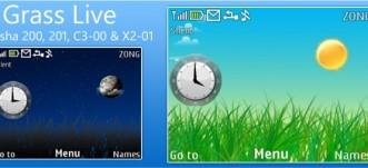 Grass Live Theme for Nokia C3 / X2-01