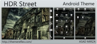 HDR Street Android HTC Desire, Galaxy Note, Samsung theme