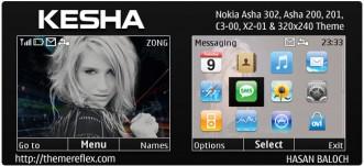 Kesha Animated theme for Nokia C3, X2-01 & Asha 200,201,302