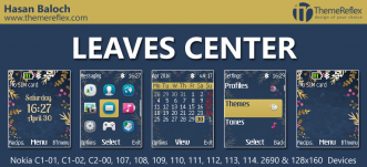 Leaves Center Theme for Nokia C1-01, C1-02, C2-00, 107, 108, 109, 111, 2690 & 128×160
