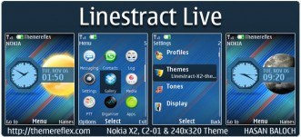 Linestract Live Theme for Nokia X2, C2-01, 2700, X2-05 & 240×320