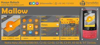 Mallow Theme for Nokia Asha 202/ 203/ 300/ 303, C2-02, C2-03, C3-01, X3-02 and Touch & Type