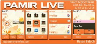 Pamir Live Theme for Nokia Asha 300/303, X3-02, C2-06, touch & type