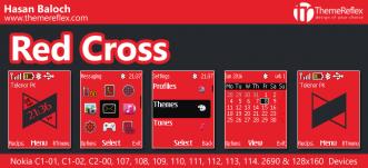 Red Cross Theme for Nokia C1-01, C1-02, C2-00, 107, 108, 109, 110, 111, 112, 113, 2690 & 128×160