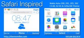 Safari Inspired Live Theme for Nokia C3-00, X2-01, Asha 200, 201, 205, 210, 302 & 320×240 Devices
