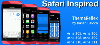 Safari Inspired Theme for Nokia Asha 305, Asha 306, Asha 308, Asha 309, Asha 310, Asha 311 and Full Touch Devices