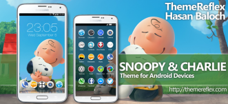 Snoopy & Charlie Theme for Nokia X, Nokia XL, Samsung, Samsung Galaxy, Samsung Star, Google, Google Nexus, Sony Xperia, Q-Mobile, HTC, Huawei, LG G2, LG & Other Android Devices