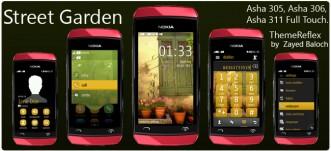 Street Garden Theme for Nokia Asha 305, Asha 306, Asha 308, Asha 311