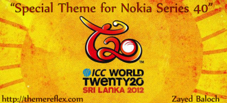 ICC World T20 2012 Schedule Theme for Nokia Series 40