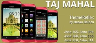 Taj Mahal Theme for Nokia Asha 305, Asha 306, Asha 308, Asha 309, Asha 310, Asha 311 Full Touch Devices