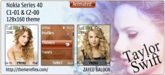 Taylor Swift animated theme for Nokia C1-01, C2-00 & 128×160