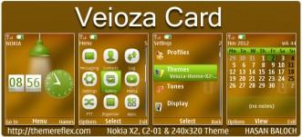 Veioza Card Theme for Nokia X2, C2-01, 2700 & 240×320
