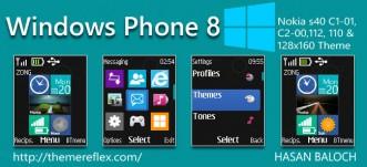 Windows Phone 8 Live & Animated Theme for Nokia C1-01, C1-02, C2-00, 2690, 107, 108, 109, 110, 111, 112, 113 & 128×160 Devices