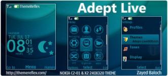 Adept Live theme for Nokia X2-00, X3, C2-01 & 240×320