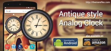 Antique style Analog Clock Widget for Android and Amazon Fire HD devices