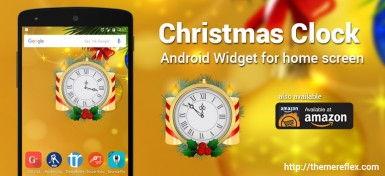 Christmas Analog clock widget for Android