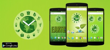 Download Earth Day Clock widget for Android