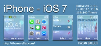 iPhone – iOS 7 Theme for Nokia C1-01, C1-02, C2-00, 107, 108, 110, 112, 113, 2690 & 128×160 devices