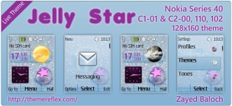 Jelly Star live theme for Nokia 110, 112, C1-01, 2690 & 128×160