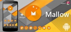 Mallow C-Launcher theme for Android devices, plus download Widget from Google Play Store