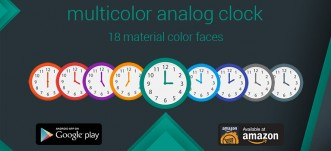 Multicolor Analog Clock Widget for Android and Amazon Fire devices