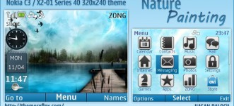Nature Painting live theme for Nokia C3 / X2-01