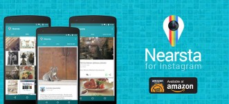 Nearsta for Instagram available for download from Amazon Android app store