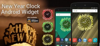 New Year Analog Clock Widget for Android Home Screen