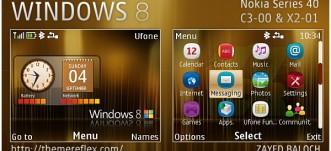 Windows 8 theme for Nokia C3 & X2-01